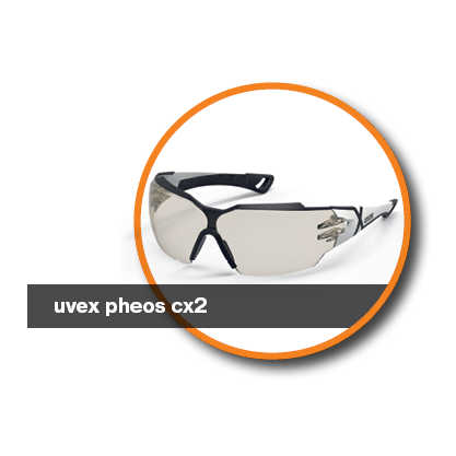 Safety glasses for mining