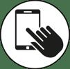 touchscreen glove symbol