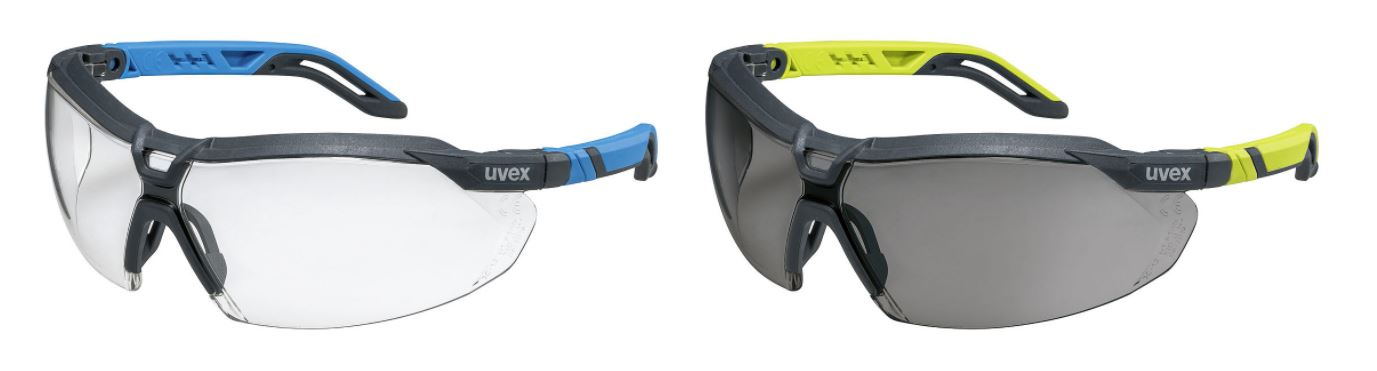 clear and grey safety glasses