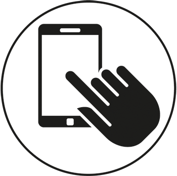 touchscreen glove symbol